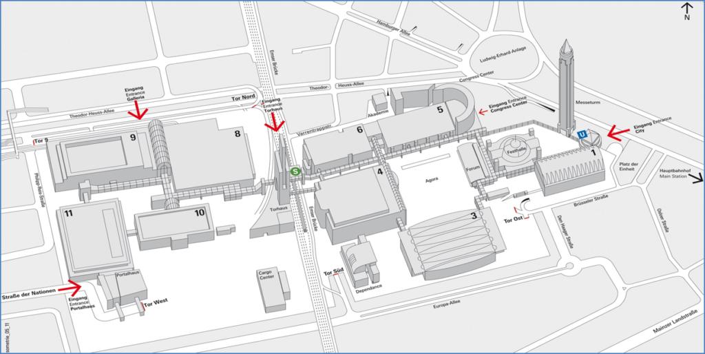 Hallenplan der Frankfurter Buchmesse 2021